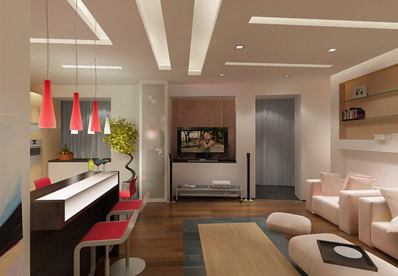 Дизайн интерьера гостиной в современном стиле: с камином, в .